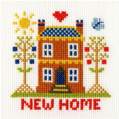 click here to view larger image of New Home Card (counted cross stitch kit)