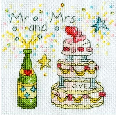 click here to view larger image of Cheers Card (counted cross stitch kit)