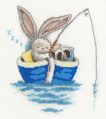 click here to view larger image of Gone Fishing (counted cross stitch kit)