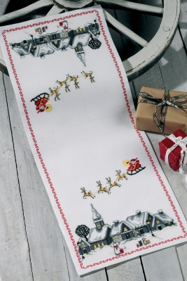 click here to view larger image of Santa Claus Sleigh - Runner (counted cross stitch kit)