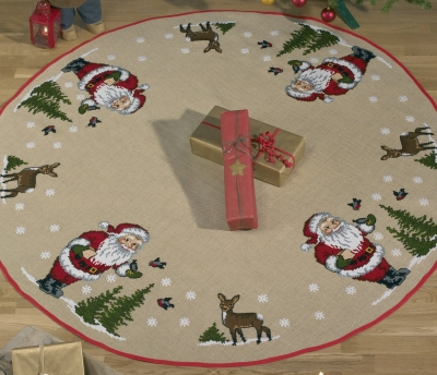 click here to view larger image of Christmas Tree Skirt (counted cross stitch kit)