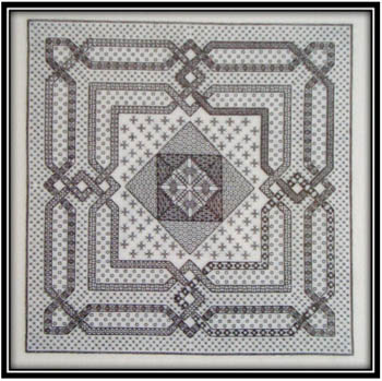 click here to view larger image of Woven Geometry In Blackwork (chart)
