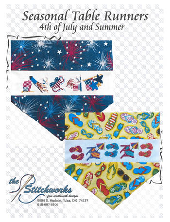 click here to view larger image of Seasonal Table Runner Designs (4th of July and Summer) (chart)