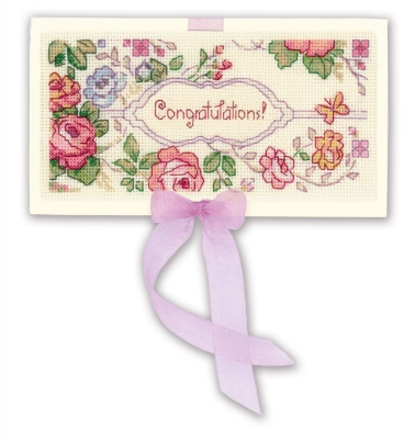 click here to view larger image of Congratulations Card (counted cross stitch kit)