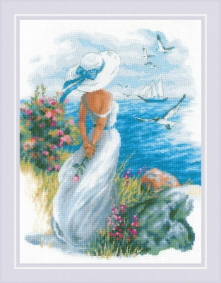 click here to view larger image of Angelique (counted cross stitch kit)