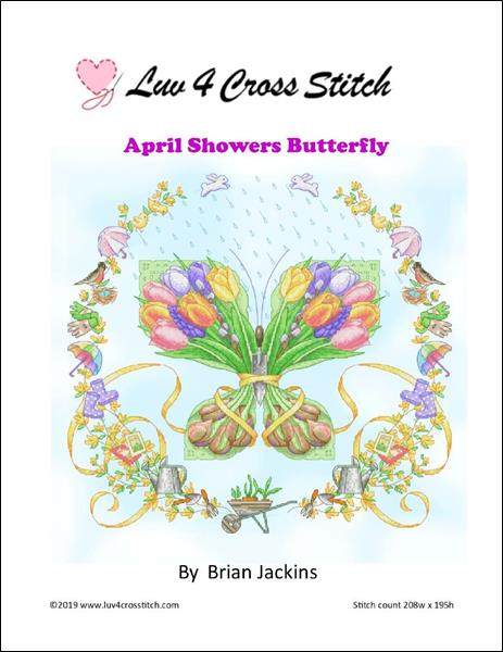 click here to view larger image of April Showers Butterfly (chart)