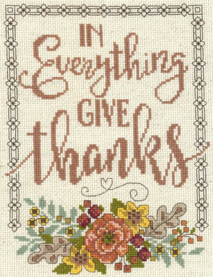 click here to view larger image of Give Thanks Floral (chart)