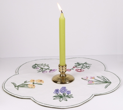 click here to view larger image of Wildflower Table Topper (embroidery kit)