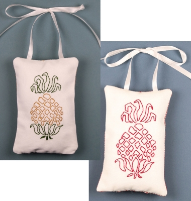 click here to view larger image of Pineapple Ornaments - 1 Each of 2 Colors (embroidery kit)