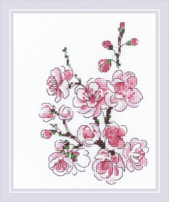 click here to view larger image of Branch of Sakura, The (counted cross stitch kit)