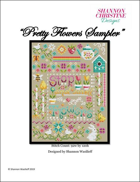 click here to view larger image of Pretty Flowers Sampler (chart)