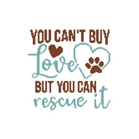click here to view larger image of Dog - You Can't Buy Love But You Can Rescue It (chart)