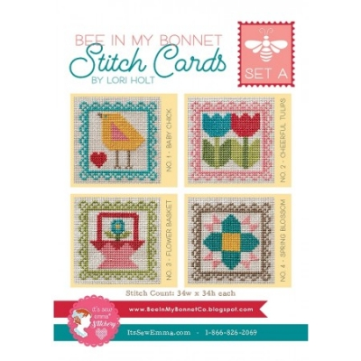 click here to view larger image of Stitch Cards - Set A (4 designs) (chart)