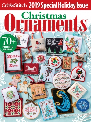click here to view larger image of Just Cross Stitch - 2019 Christmas Ornaments (magazines)