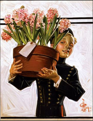click here to view larger image of Bellhop with Hyacinths (chart)