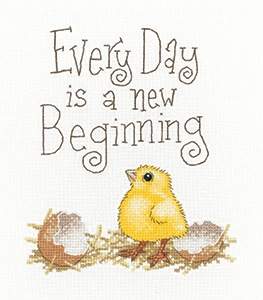 click here to view larger image of  Every Day is a New Beginning (counted cross stitch kit)