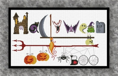 click here to view larger image of Halloween Sign (chart)
