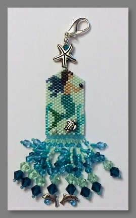 click here to view larger image of Summer Angel (A Mermaid) Fob (bead kit)