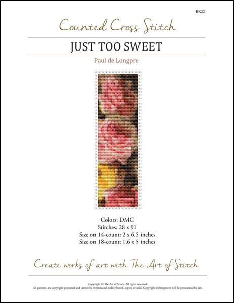 click here to view larger image of Just Too Sweet Bookmark  (chart)