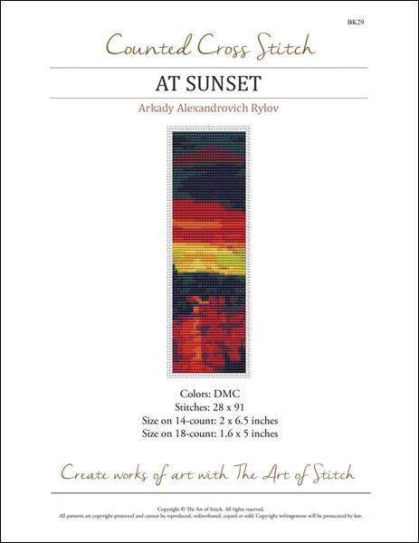 click here to view larger image of At Sunset Bookmark  (chart)