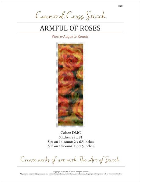 click here to view larger image of Armful of Roses Bookmark  (chart)