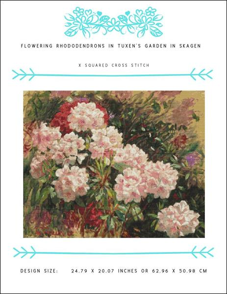 click here to view larger image of Flowering Rhododendrons in Tuxen's Garden in Skagen (chart)