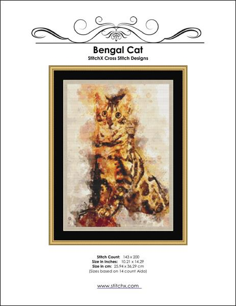 click here to view larger image of Bengal Cat Painting (chart)