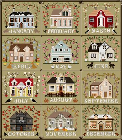 click here to view larger image of I'll Be Home Series All Cottages in One (chart)