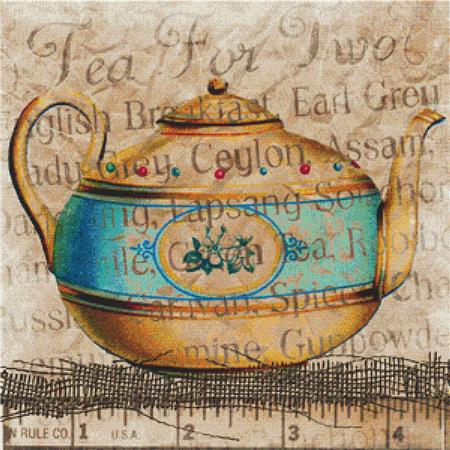 click here to view larger image of Vintage Teapot (chart)