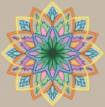 click here to view larger image of Lotus Mandala (chart)