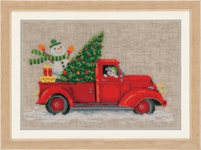 click here to view larger image of Christmas Truck (counted cross stitch kit)