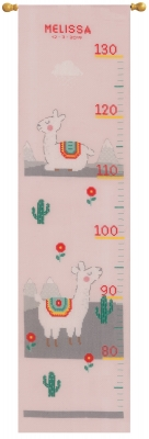 click here to view larger image of Lovely Llama - Growth Chart (counted cross stitch kit)