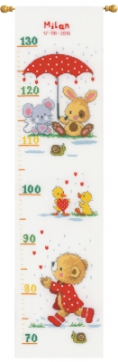 click here to view larger image of Under the Umbrella - Growth Chart (counted cross stitch kit)