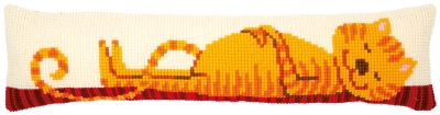 click here to view larger image of Funny Cat Draft Stopper (counted cross stitch kit)