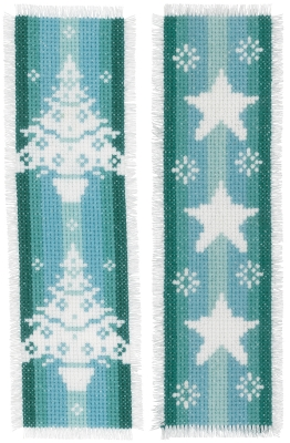 click here to view larger image of Winter Bookmark Set of 2 (counted cross stitch kit)
