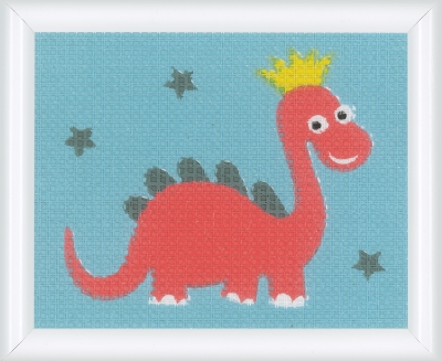 click here to view larger image of Dinosaur (counted cross stitch kit)