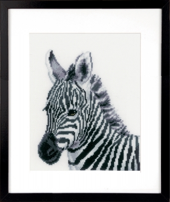 click here to view larger image of Zebra (counted cross stitch kit)