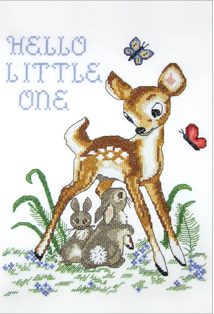 click here to view larger image of Deer (stamped cross stitch kit)