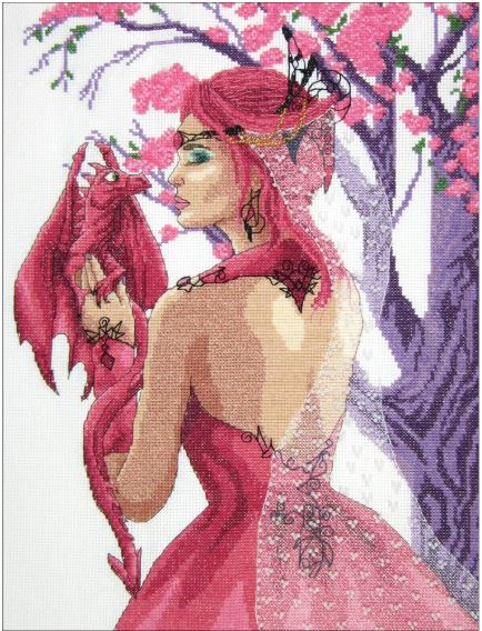 click here to view larger image of Dragon Princess (counted cross stitch kit)