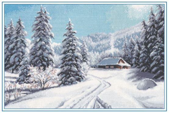 click here to view larger image of Winter Day (counted cross stitch kit)