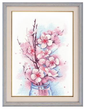 click here to view larger image of Apple Blossom (counted cross stitch kit)