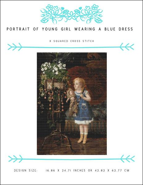 click here to view larger image of Portrait Of Young Girl Wearing A Blue Dress (chart)