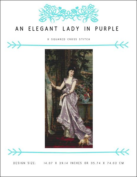 click here to view larger image of An Elegant Lady In Purple (chart)