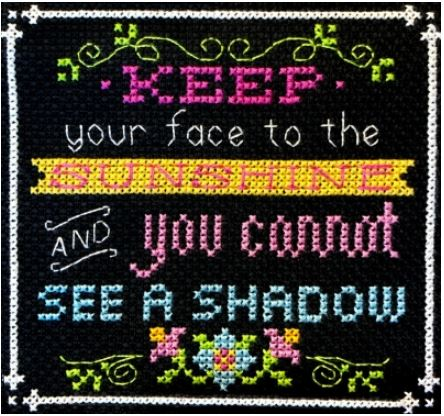 click here to view larger image of Words to Live By 7 - Face the Sunshine (chart)