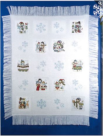 click here to view larger image of Snow Friends Collectors Series Afghan  (book)