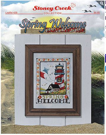 click here to view larger image of Spring Welcome Lighthouse - 2 designs (chart)