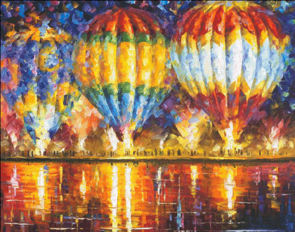 click here to view larger image of Balloon Reflections - Max Colors (chart)