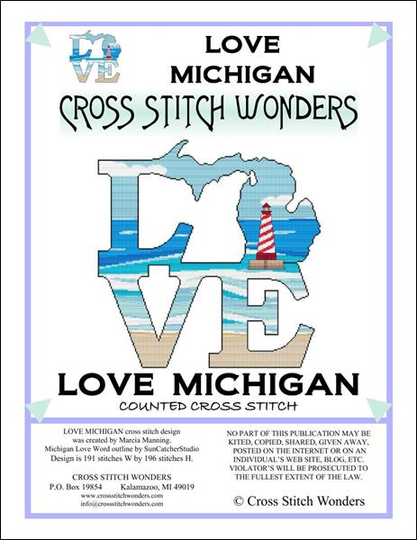 click here to view larger image of Love Michigan (chart)