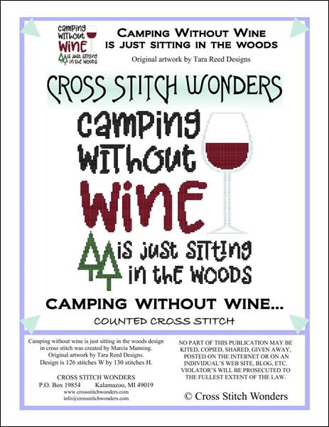 click here to view larger image of Camping Without Wine is Just Sitting in the Woods (chart)