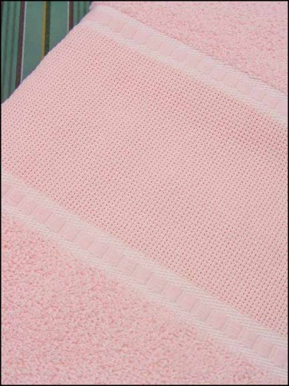 click here to view larger image of Pink 45in Bath Towel  (stitchable)